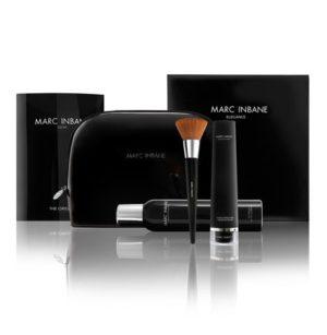 Marc Inbane elegance set Natural Tanning Spray (200ml), Powder Brush, Glove & Black Exfoliator (75ml) in een luxe toilettas