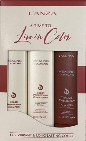 L'anza Healing Colorcare set - Shampoo & Conditioner & Treatment